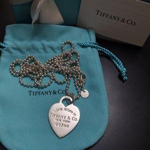 Authentic Tiffany & Co Return to Tiffany Heart Tag